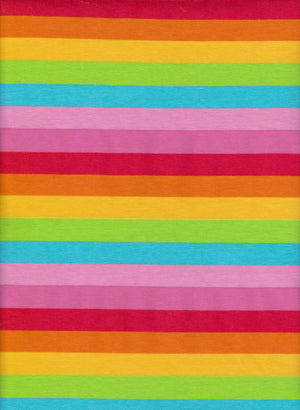 Cotton Spandex - Summer Stripes