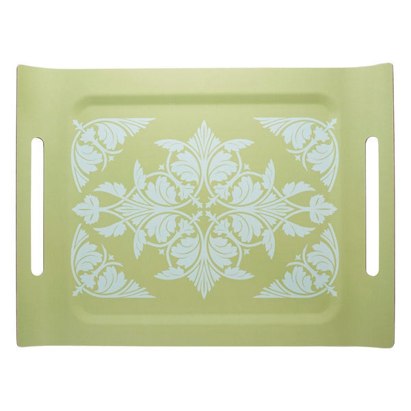 Syracuse Green Tray by Le Jacquard Français | Fig Linens - wood, rectangular serving tray