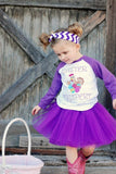 Easter Eggspert Purple Raglan T-Shirt, Tutu, Headband Set