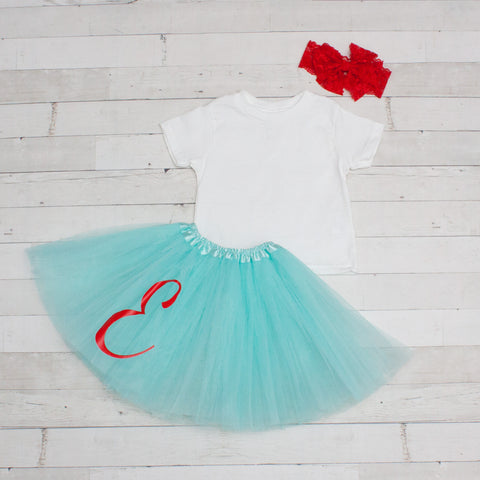 Personalized Tutu - 3 Layer Tulle Dance Tutu w/ Vinyl Letter