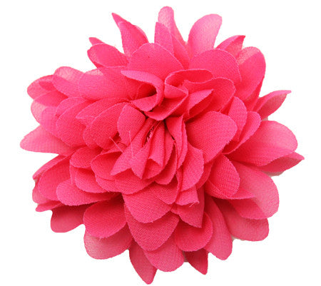 "Chiffon Mum 3.5"" Fabric Flower/Clip"