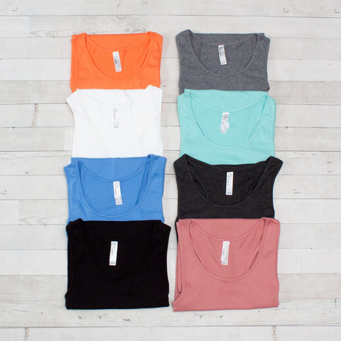 Ladies Relaxed Racerback Tank - 10 Colors
