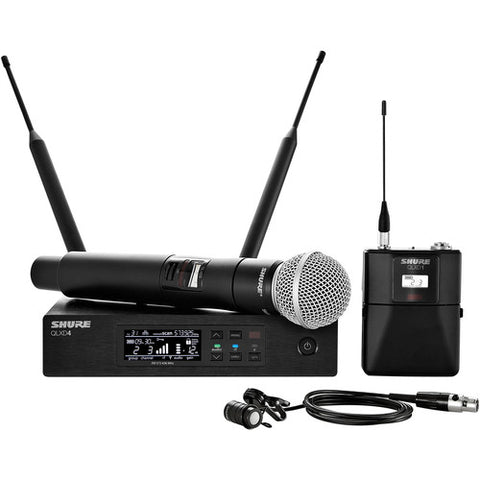 Shure QLXD124/85 Dual Wireless System with WL185 Lavalier & SM58 Microphone - Sonido Live