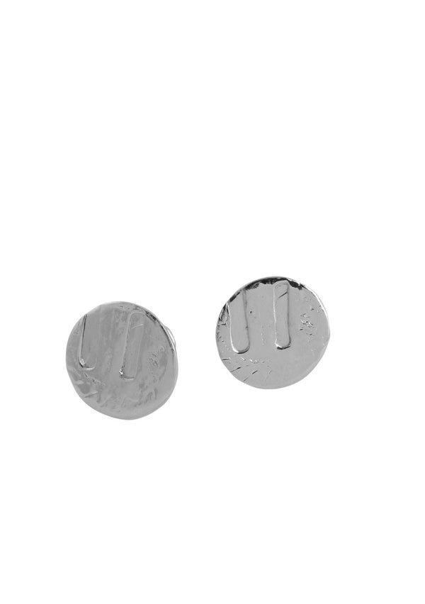 Rhodium Coin Cuff Links