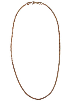 Thin Bronze Cable Chain Necklace