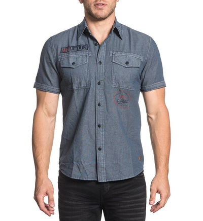 Dawkins - Mens Button Down Tops - Affliction Clothing