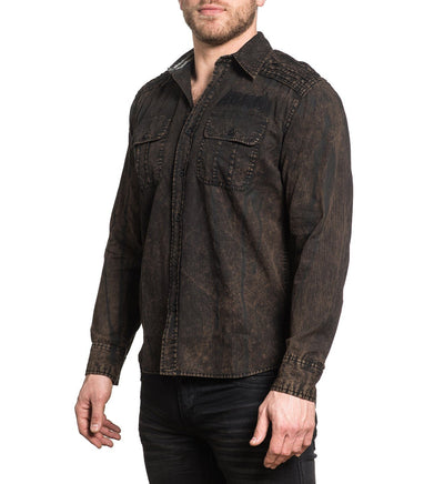 Replica - Mens Button Down Tops - Affliction Clothing
