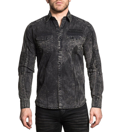 Temper - Mens Button Down Tops - Affliction Clothing