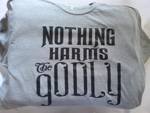 """Nothing Harms gODLY"" Men's Apparel"