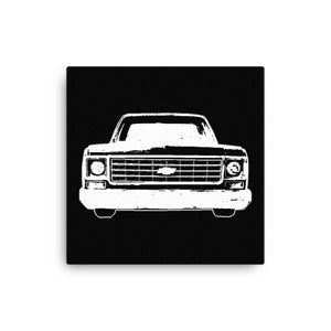1977 Chevrolet C10 Pickup Truck - Modern Rodder - Canvas Print