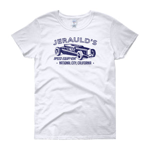 Jerauld's Speed Equipment California - Modern Rodder - Women's T-Shirt