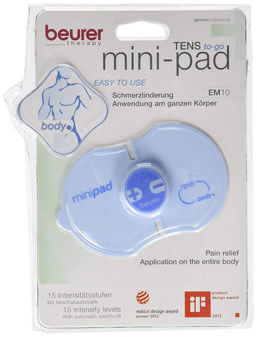 Beurer EM 10 Mini Tens Pad for Body Pain Relief - Electric Blankets & Pain Relief