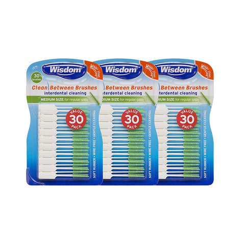 Wisdom Clean Between Interdental Fine Blue, Pack of 3 - 90 Count