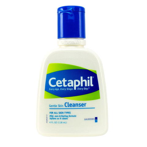 Cetaphil Gentle Skin Cleanser, For All Skin Types 4 fl oz 3in1 Pack(118 ml) - Skincare