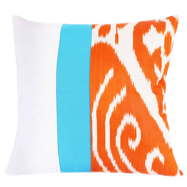 Contrast ikat pillow cover