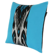 Load image into Gallery viewer, Double-sided silk ikat cushion cover