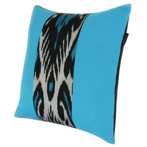 Double-sided silk ikat cushion cover