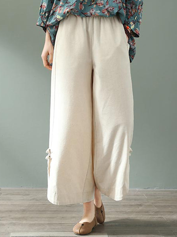 Heaven Tour Cotton & Linen Wide Leg Pant