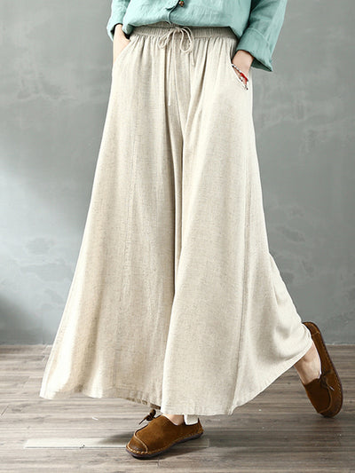 Enlighten Me Cotton & Linen Wide Leg Pant