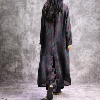 Fade & Jade Color Print Full Dress