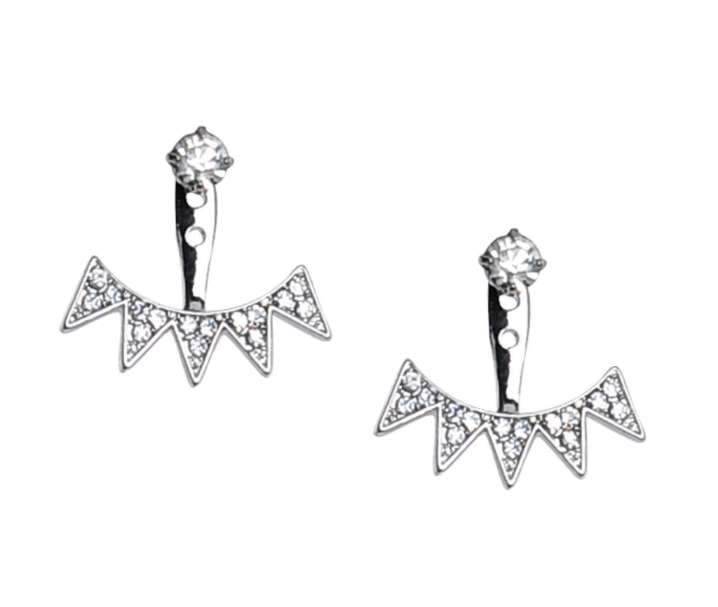 Silver Spike Earring Jackets