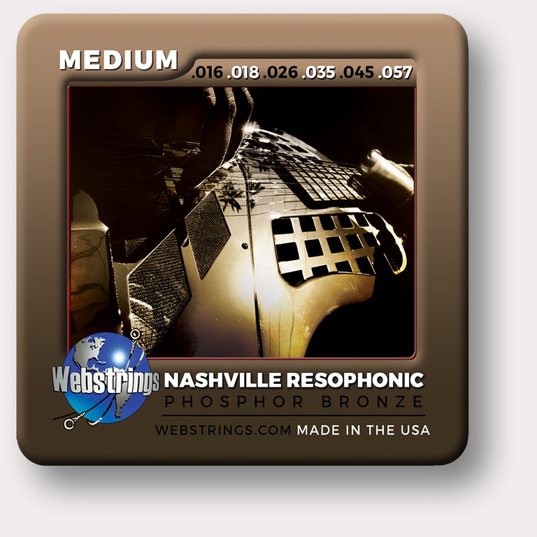Webstrings Nashville Phosphor Bronze Resophonic Guitar Strings, Exceptional Tone and Quality along with long life and the lowest price. Webstrings Nashville Phosphor Bronze Resophonic Guitar Strings feel and sound incredible. Webstrings Nashville Phosphor Resophonic strings are an exceptional value. Made in the USA