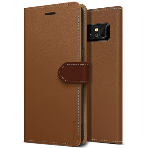 OBLIQ Galaxy Note 8 Case K1 Wallet Brown