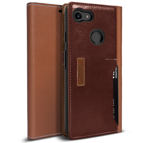 Google Pixel 3 Case K3 Wallet Brown Burgundy