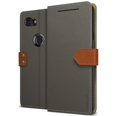 OBLIQ Google Pixel 2 XL Case K1 Wallet Black Gray