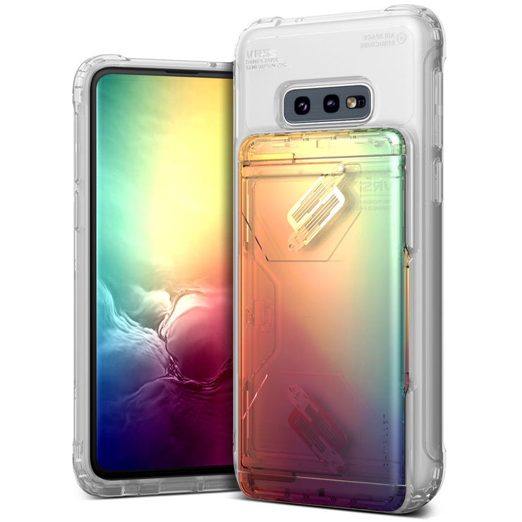 VRS Design | Galaxy S10e Case Damda Shield Clear Series - Orange Purple