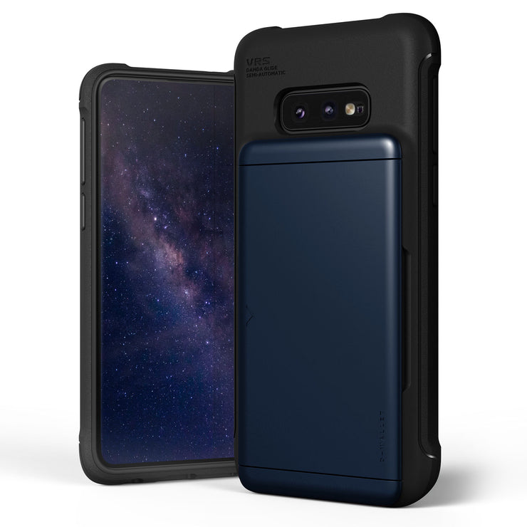 VRS Design | Samsung Galaxy S10e Case Damda Shield Wallet Card Case - Deep Sea Blue