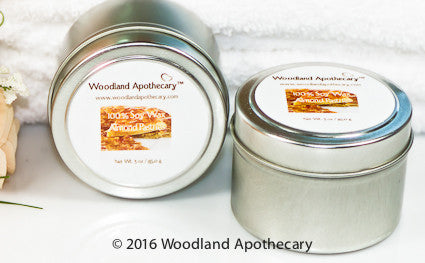 Soy Candle Tin - Almond Pastries | Woodland Apothecary™
