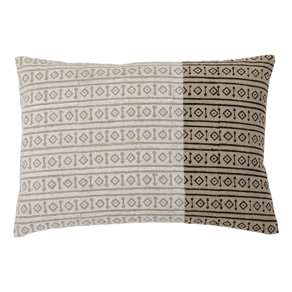 Misa White Band geometric 14x20 pillow