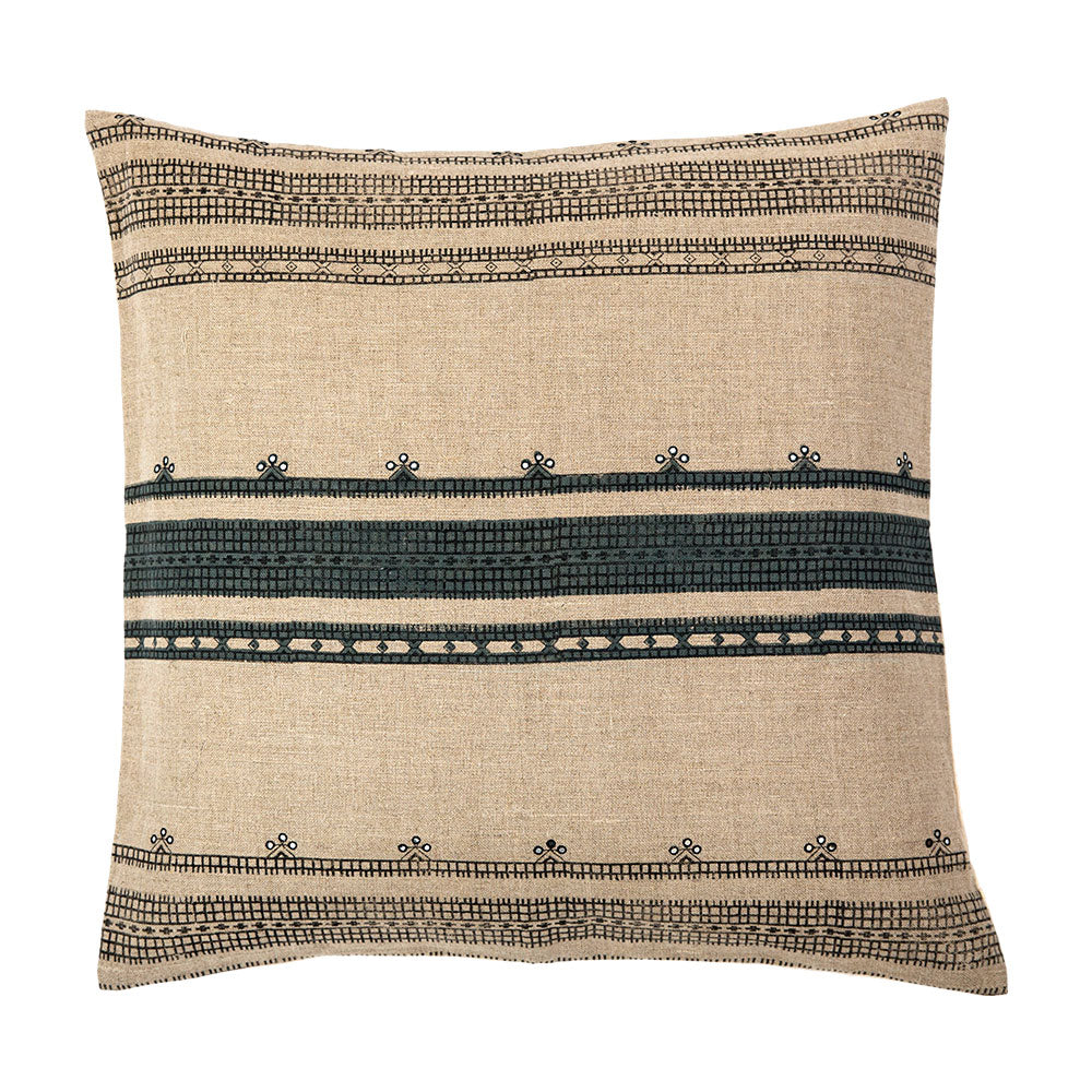 Naga throw pillow with Indian tribal pattern