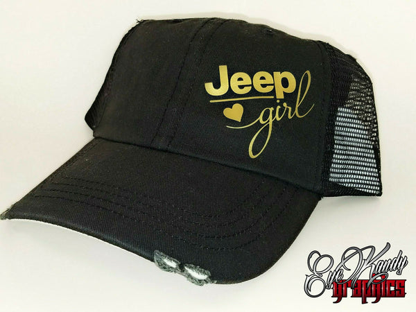 Jeep Girl in Gold Black Trucker Jeep Hat ~ Jeep Life ~ Jeep Hat ~ Go Topless  ~ Jeep logo