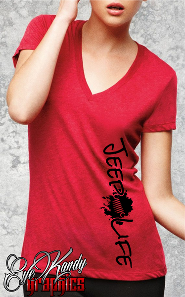 Jeep Life Women's V-NECK  - choose the color combination that suits YOU!