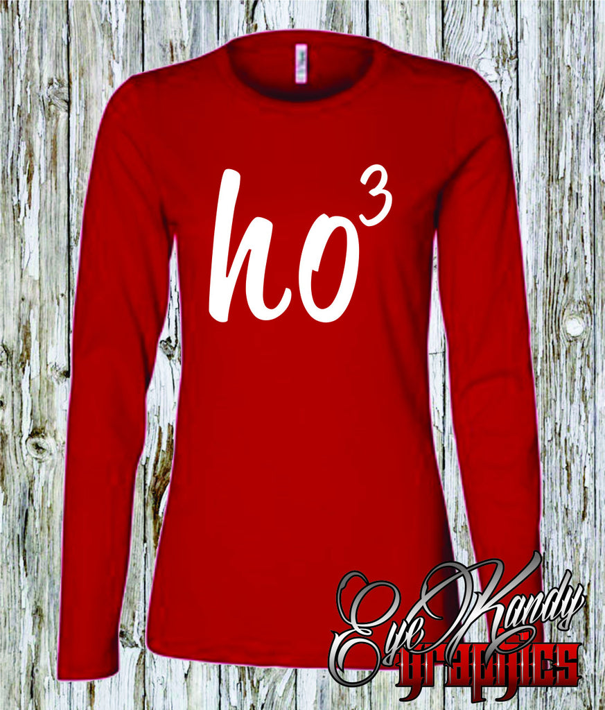 Ho3 ~ Cute holiday design ~ Ladies Long Sleeve ~ Printed shirt