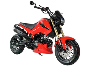 PMZ125-1 icebear fuerza 125cc motorcycle Red