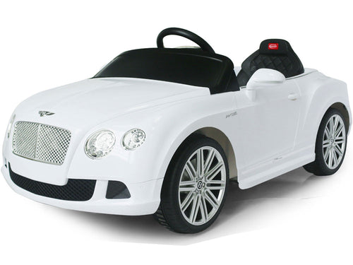 Bentley Continental GT 12V Electric Power Wheels RC Toy Car GTC - White