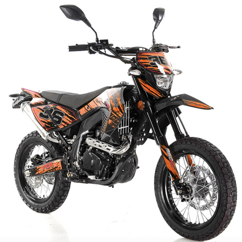 DB-34 deluxe apollo dirt bike street legal 250cc orange