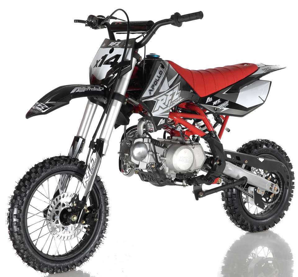 DB-x14 apollo dirt bike for adults teenagers 125cc semi-automatic transmission pit bike motocross dual sport