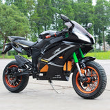 2000W Electric Ninja Super Pocket Bike 72V Motorcycle ZXR6-E - Street Legal