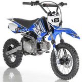 DB-X6 apollo dirt bike fully automatic 125cc motorcycle dirt bike blue