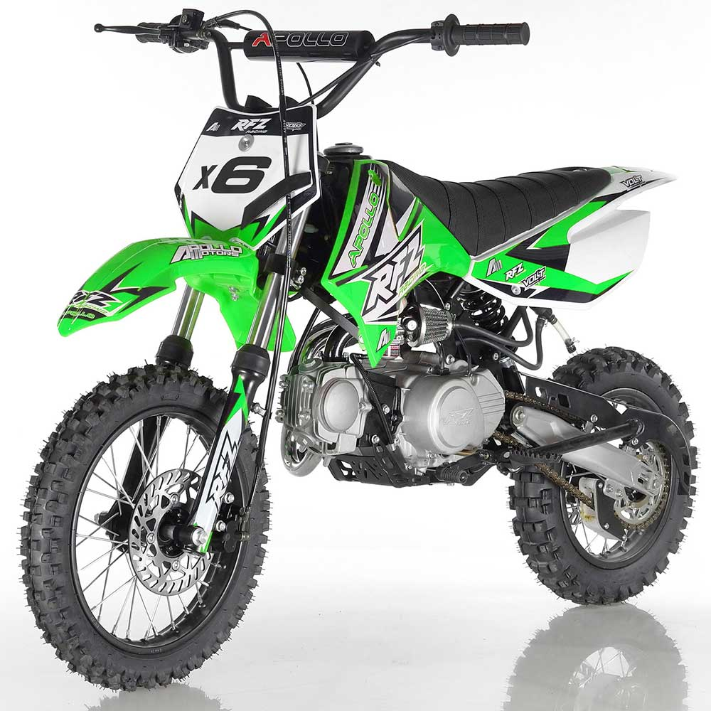 DB-X6 apollo dirt bike fully automatic 125cc motorcycle dirt bike green