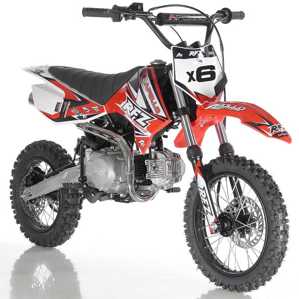 DB-X6 apollo dirt bike fully automatic 125cc motorcycle dirt bike red
