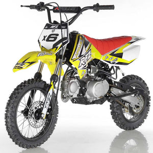 DB-X6 apollo dirt bike fully automatic 125cc motorcycle dirt bike yellow