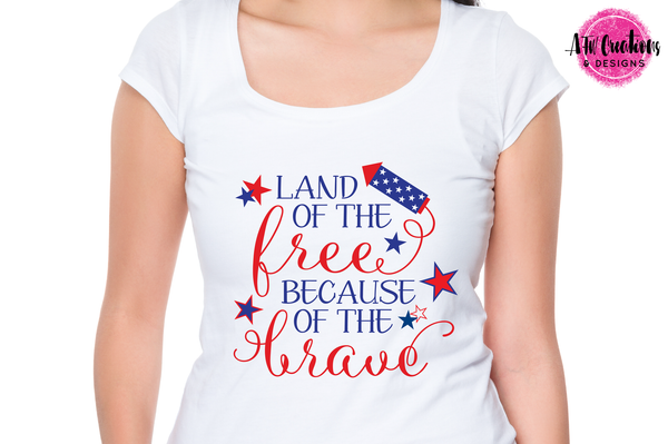 Land of the Free - SVG, DXF, EPS