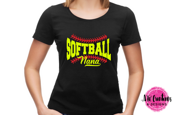 Softball Nana - SVG, DXF, EPS