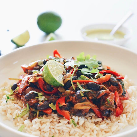 Fajita Bowl with Zesty Lime Dressing