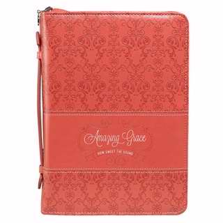 Bible Cover-Fashion/Amazing Grace-Medium-Coral